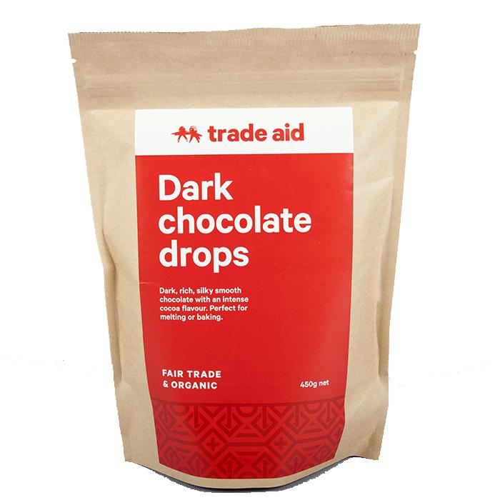 Organic 55% dark chocolate drops – 450g | TradeAid