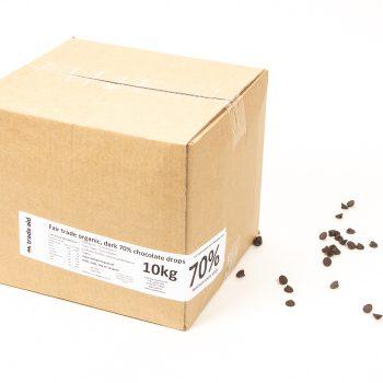 Organic 70% dark chocolate drops – 10kg | Gallery 1 | TradeAid