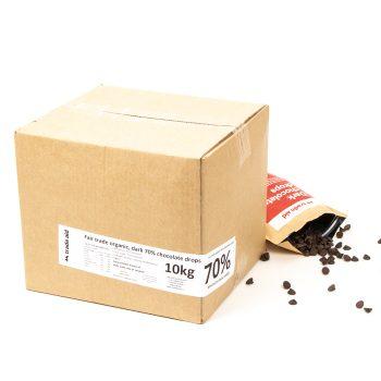 Organic 70% dark chocolate drops – 10kg | Gallery 2 | TradeAid