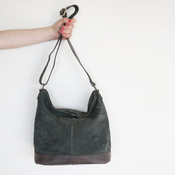 Green suede slouch bag | TradeAid