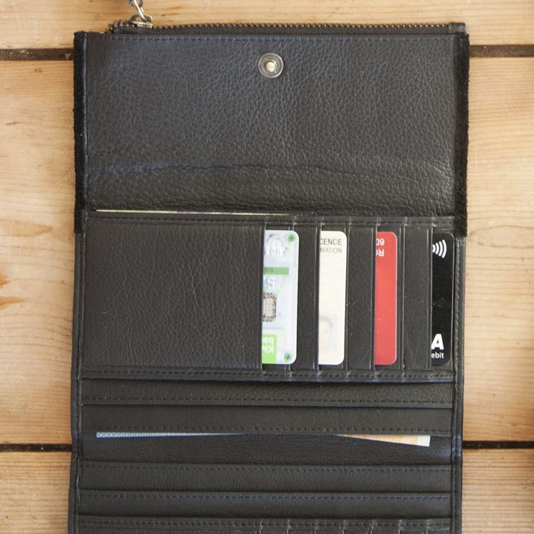 Black leather and suede wallet | Gallery 1 | TradeAid