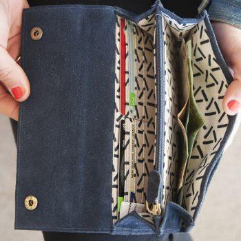 Blue suede wallet | Gallery 2 | TradeAid