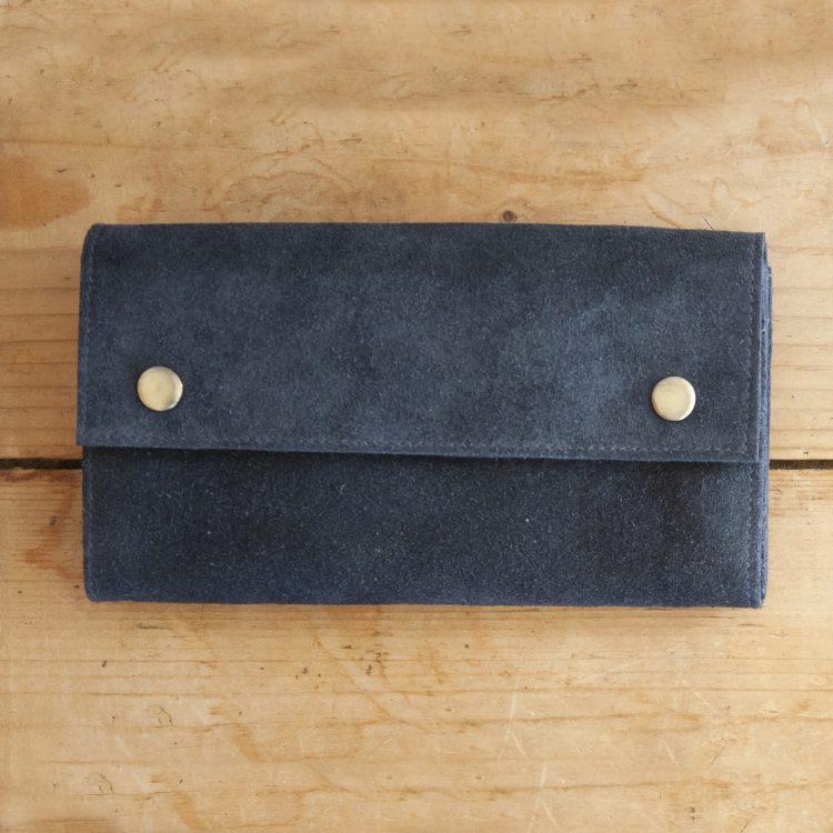 Blue suede wallet | TradeAid