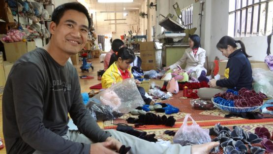 Nguyen Ngoc Anh, a fabric artisan with Craft Link
