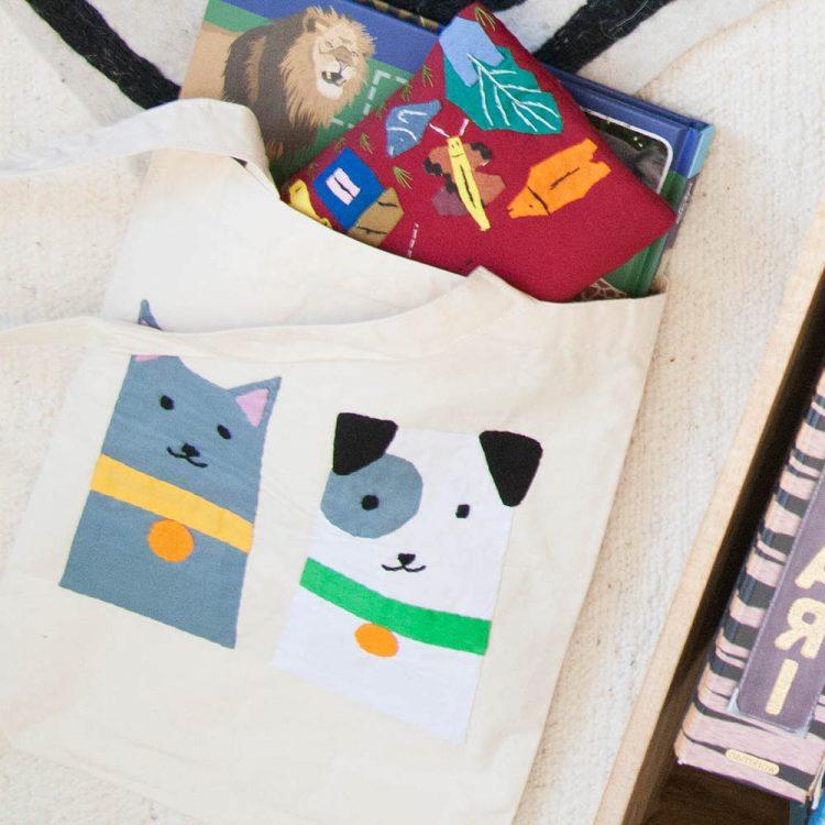 Cat and dog book bag | TradeAid