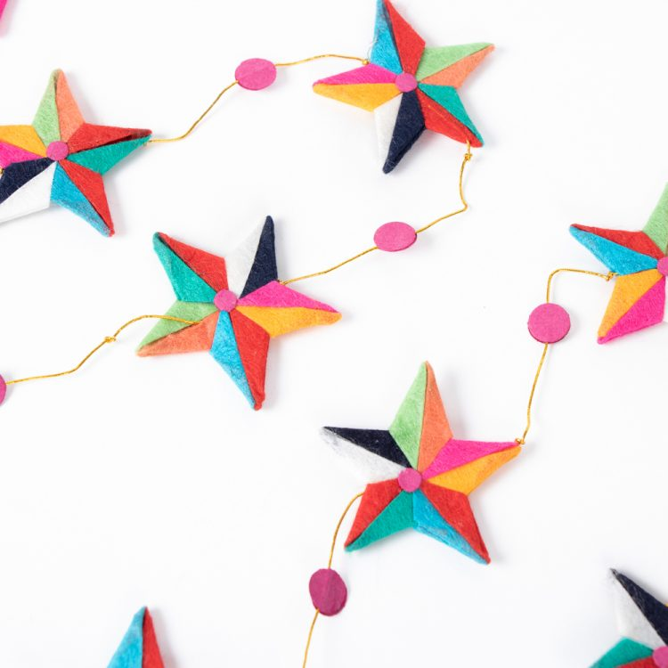 Silk paper star garland | TradeAid