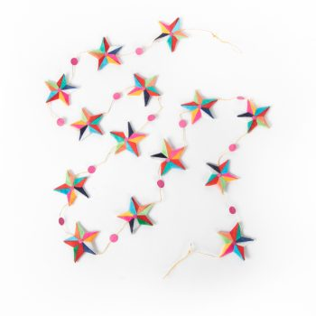 Silk paper star garland   TradeAid