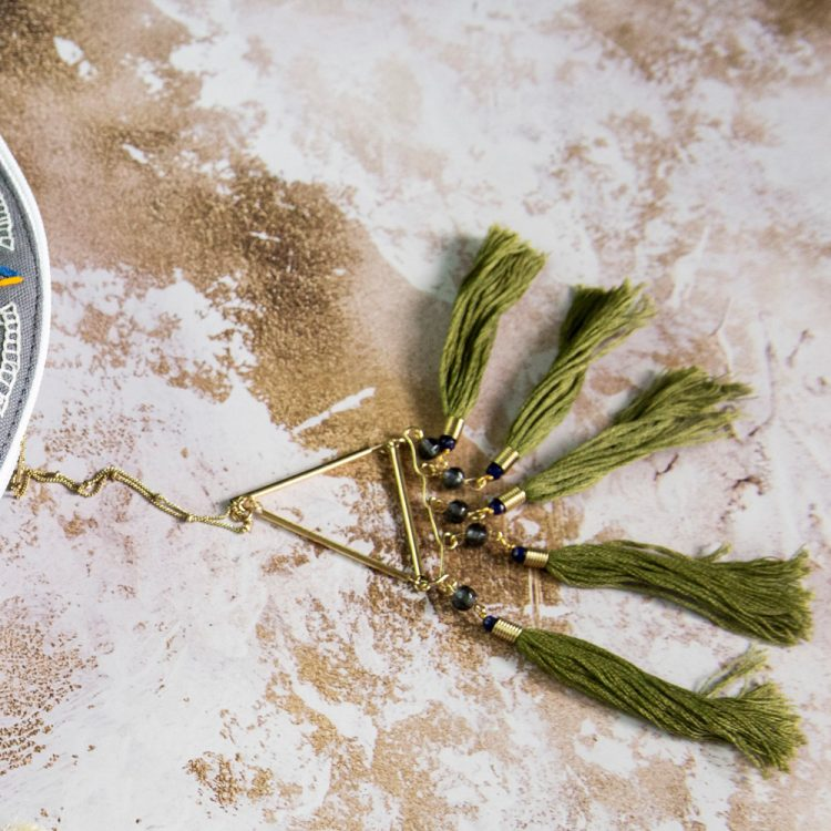 Green tassel necklace | TradeAid