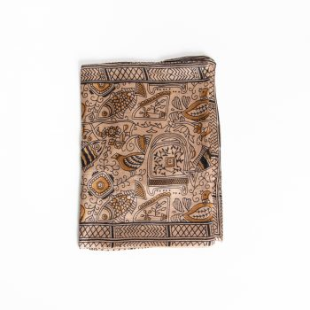 Tan silk scarf | TradeAid