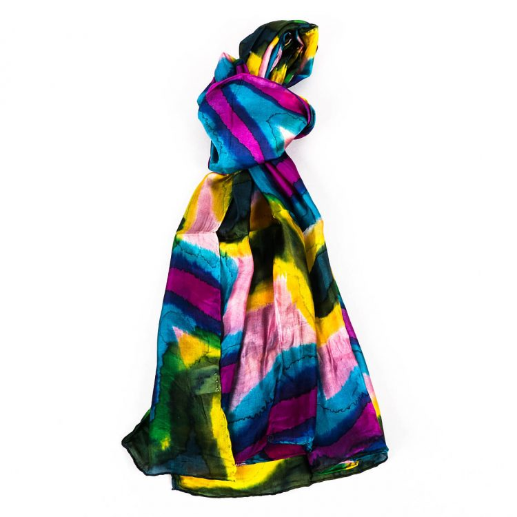 Multicolour silk scarf | TradeAid