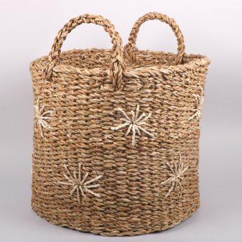 Hogla star basket with handles | Gallery 1 | TradeAid