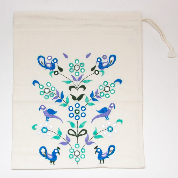 Embroidered tree of life drawstring bag | Gallery 2 | TradeAid