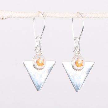 Art deco triangle earrings | TradeAid