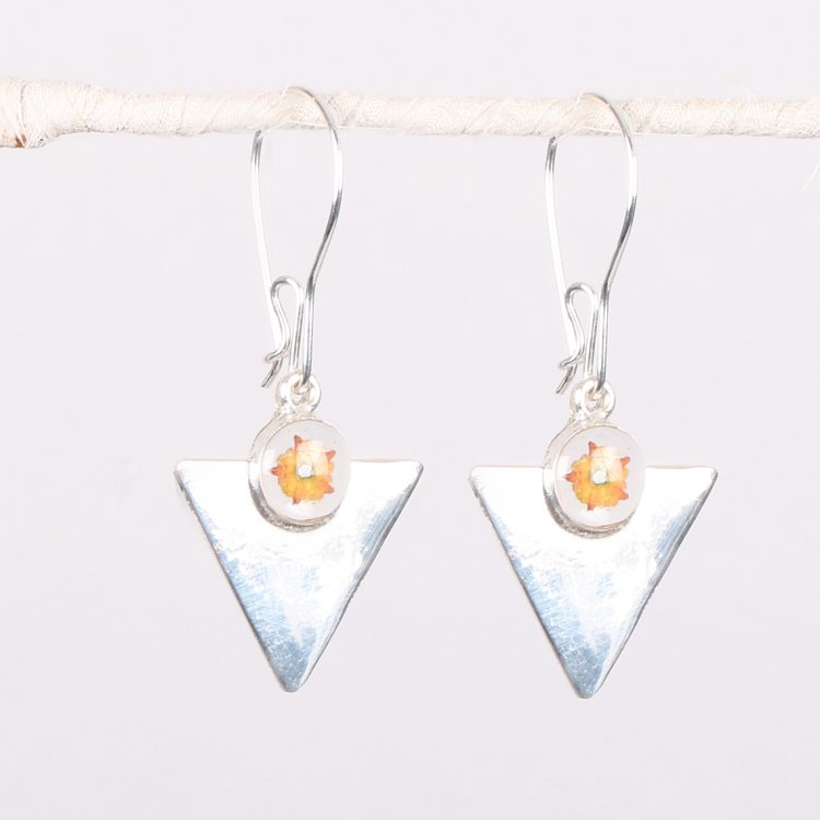 Art deco triangle earrings | TradeAid