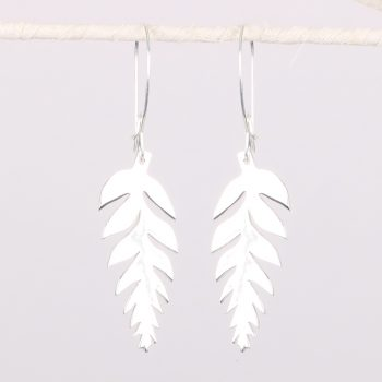 Silver plated fern earrings | TradeAid