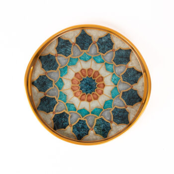 Reverse painted glass tray | TradeAid