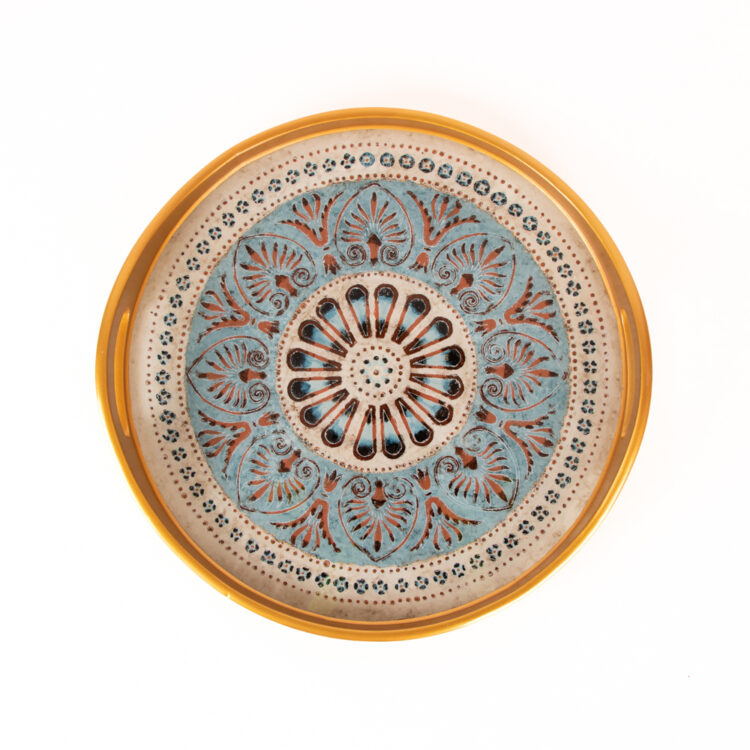 Blue floral glass tray | TradeAid