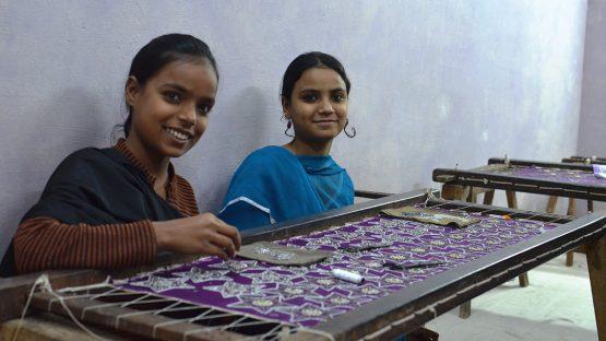 Sayma and Nasma, zari embroidery artisans