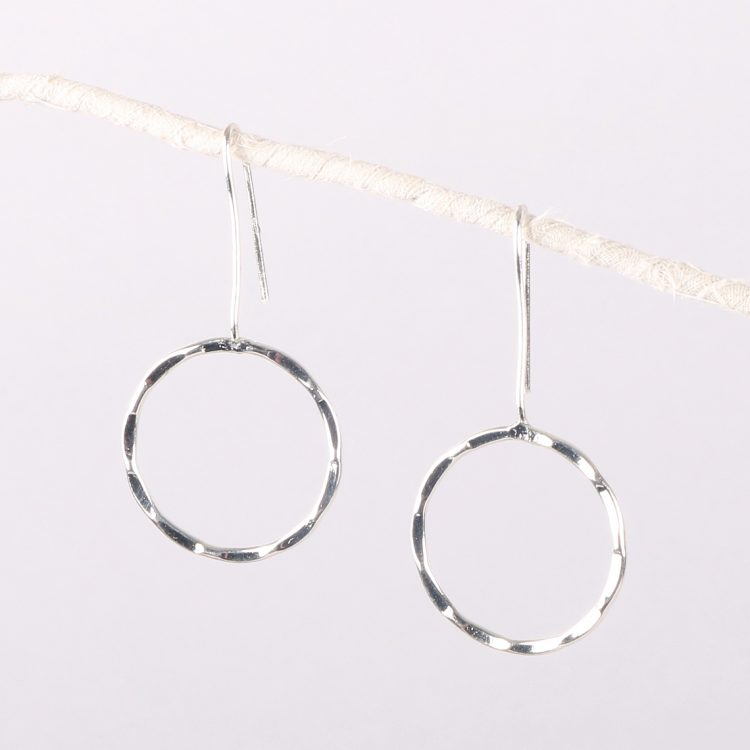Faceted circle earrings | TradeAid