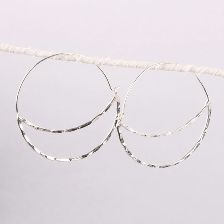 Faceted moon earrings | TradeAid