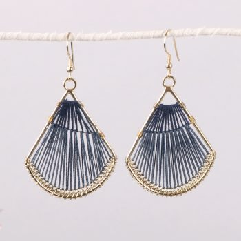 Blue threadwork earrings | TradeAid