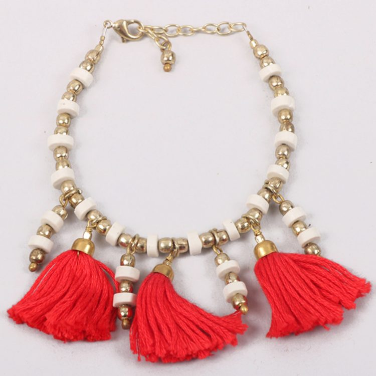 Red tassel bracelet | TradeAid