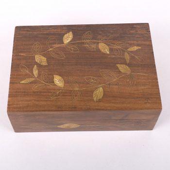 Sheeshamwood box with brass leaf inlay | Gallery 1 | TradeAid