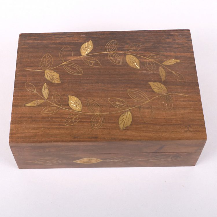 Brass leaf sheesham wood box | Gallery 1 | TradeAid