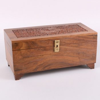 Large carved bird design sheeshamwood box | TradeAid