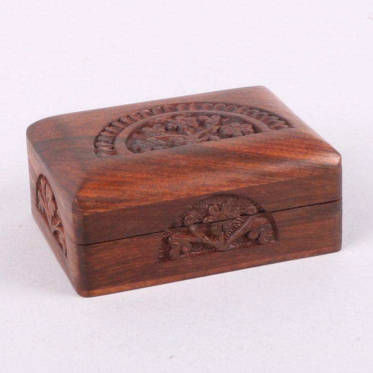 Floral arch sheesham wood box | TradeAid
