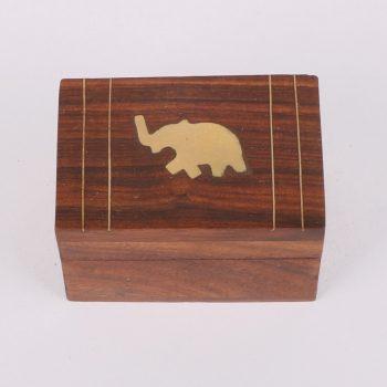 Sheeshamwood box with elephant inlay | Gallery 1 | TradeAid