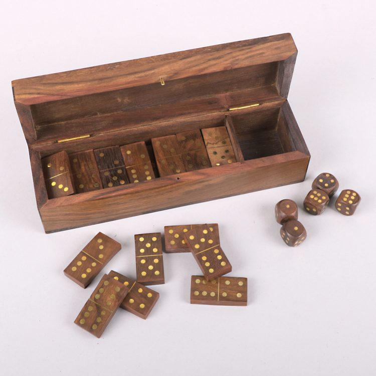 Wooden dominoes and dice box set | Gallery 2 | TradeAid