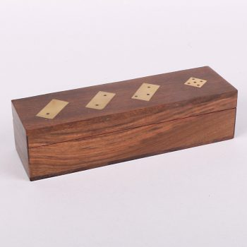 Wooden dominoes and dice box set | TradeAid