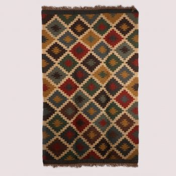 Star and diamond jute and wool rug | TradeAid