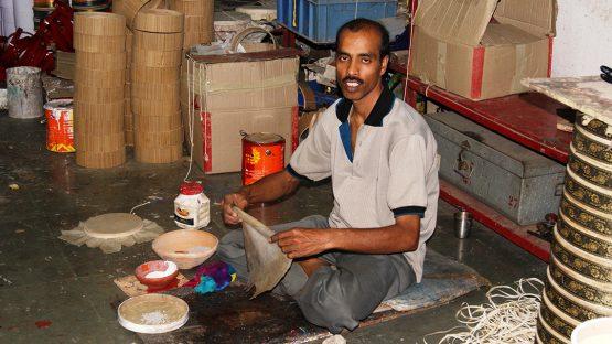 An artisan drum maker
