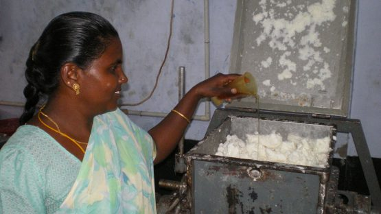Adding scent to the soap
