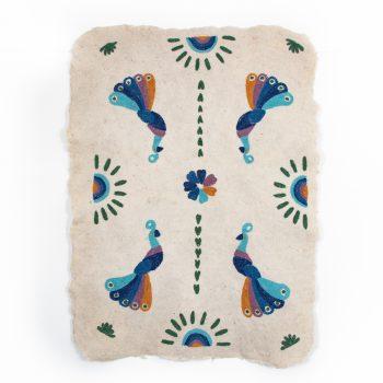 Peacock numdha rug | TradeAid