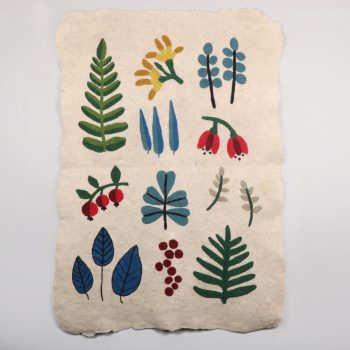 Leaf and berry numdha rug | TradeAid