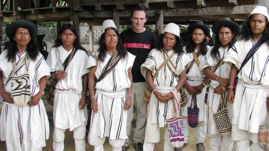 Justin Purser with Jeurwa region coffee farmers