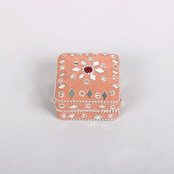 Pink lac box with mirrorwork detail | Gallery 1 | TradeAid