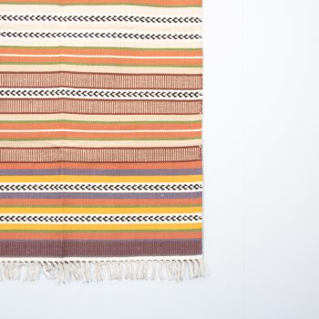 Earth toned striped cotton rug | Gallery 1 | TradeAid