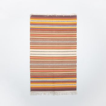 Earth toned striped cotton rug | TradeAid