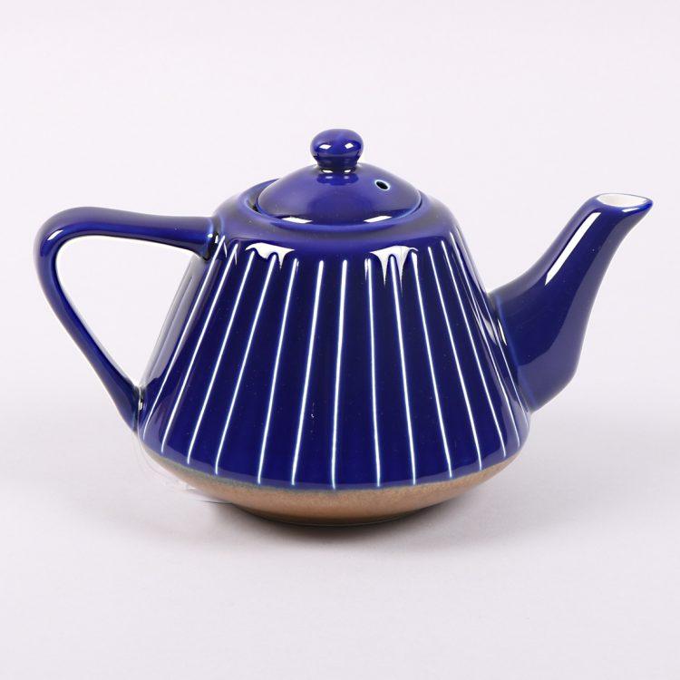 Blue striped teapot | TradeAid