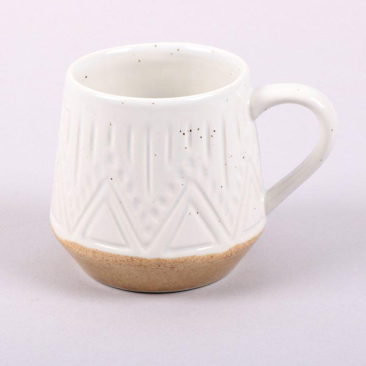 White linear speckle mug | Gallery 1 | TradeAid