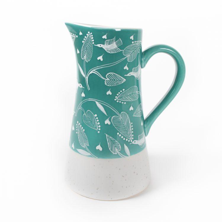 Teal tree of life jug | TradeAid