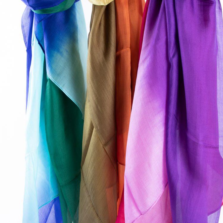Tie dyed silk scarf | Gallery 2 | TradeAid