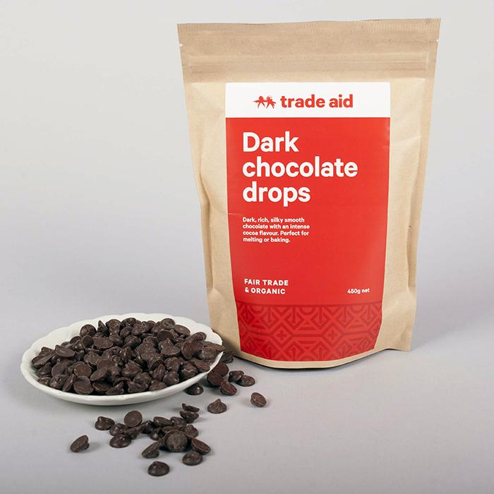 Organic 55% dark chocolate drops – 450g | Gallery 2 | TradeAid