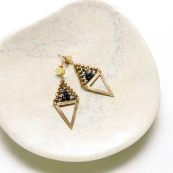 Beaded diamond earrings | TradeAid