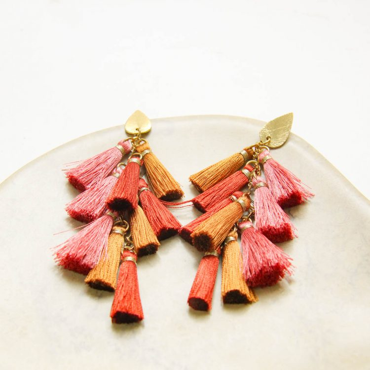 Rose and gold tassel earrings | Gallery 1 | TradeAid