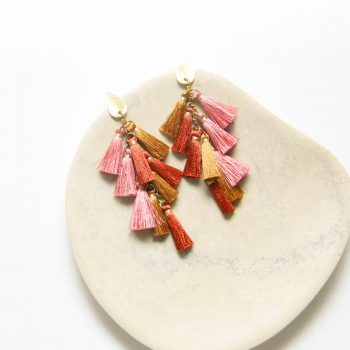 Rose and gold tassel earrings | Gallery 2 | TradeAid